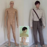 Male Full Body Mannequin With Moveable Arms & Head
